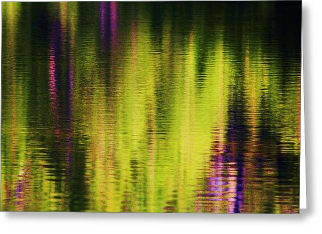 Water Abstract 3 Greeting Card by Russell  Barton