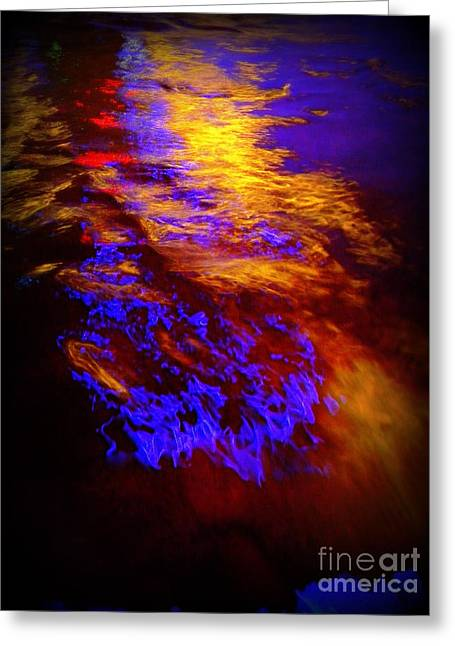 Water Abstract. Pittsburgh, Pa Greeting Card by Len-Stanley Yesh