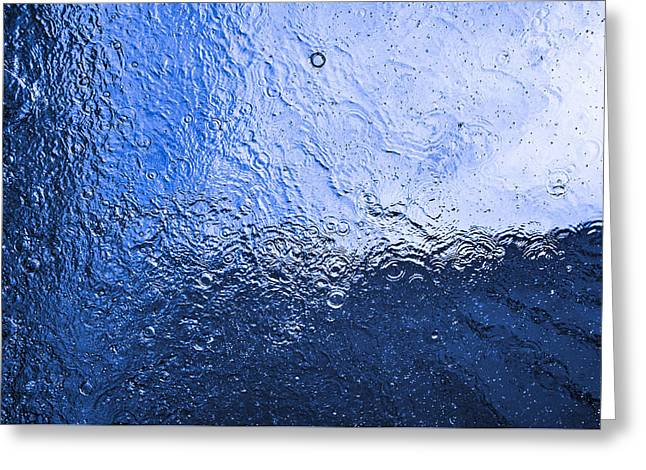 Water Abstraction - Blue Reflection Greeting Card by Alex Potemkin