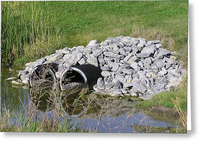 Water And Culverts Greeting Card by Richard Mitchell