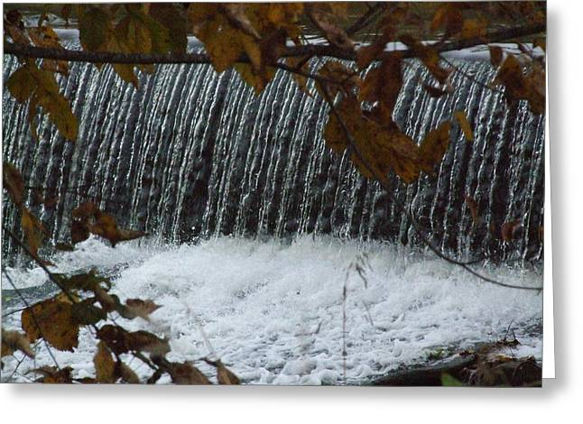 Water And Dam Greeting Card by Michael L Kimble