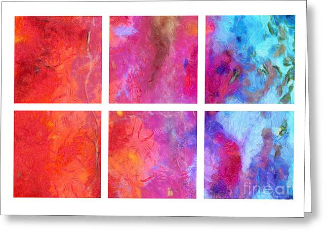 Water And Fire Abstract Greeting Card