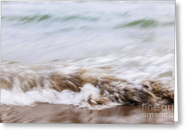 Water And Sand Abstract 3 Greeting Card