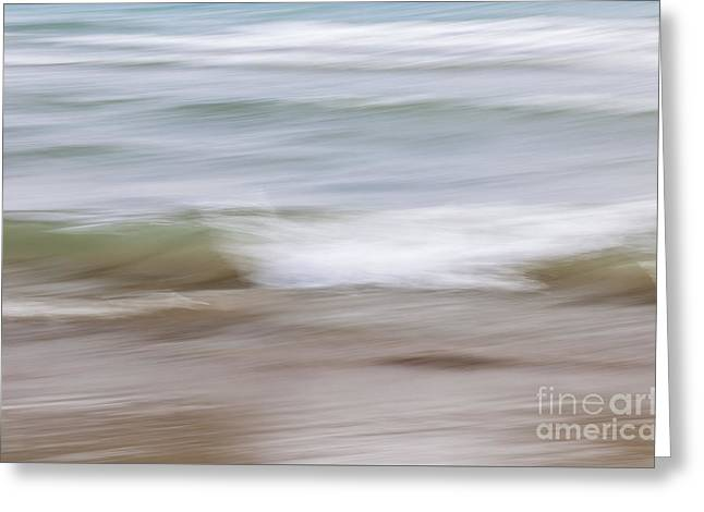 Water And Sand Abstract 4 Greeting Card by Elena Elisseeva