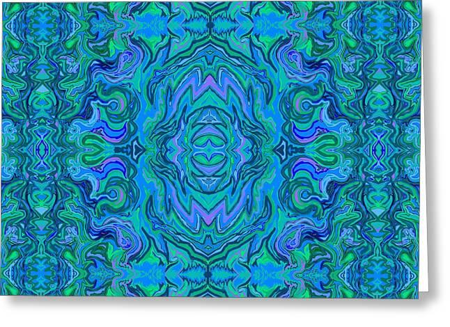 Water Art Pattern  Greeting Card