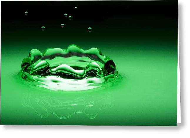 Water As Glass - Green 2 Greeting Card by Michael Dykstra