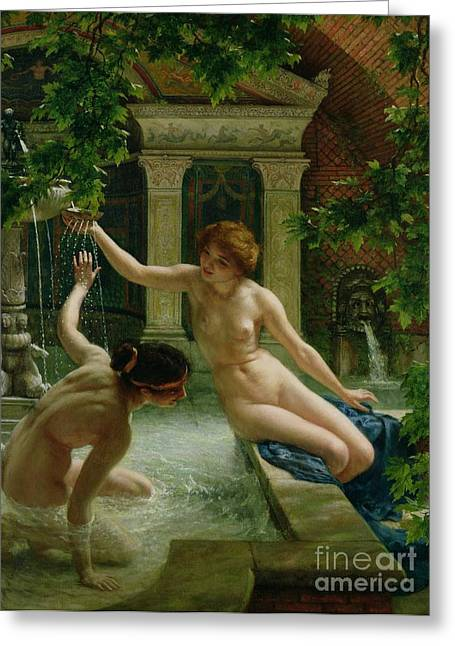 Sexy Greeting Cards - Water Babies Greeting Card by Sir Edward John Poynter