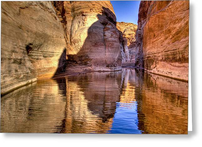 Water Canyon Greeting Card by Jon Berghoff