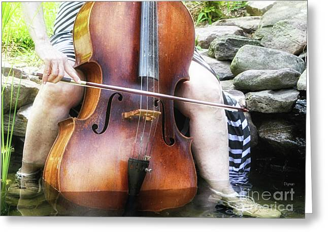 Water Cello  Greeting Card