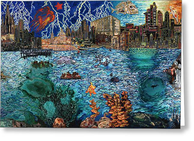 Water City Greeting Card by Emily McLaughlin