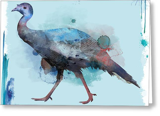 Water Color Turkey Greeting Card