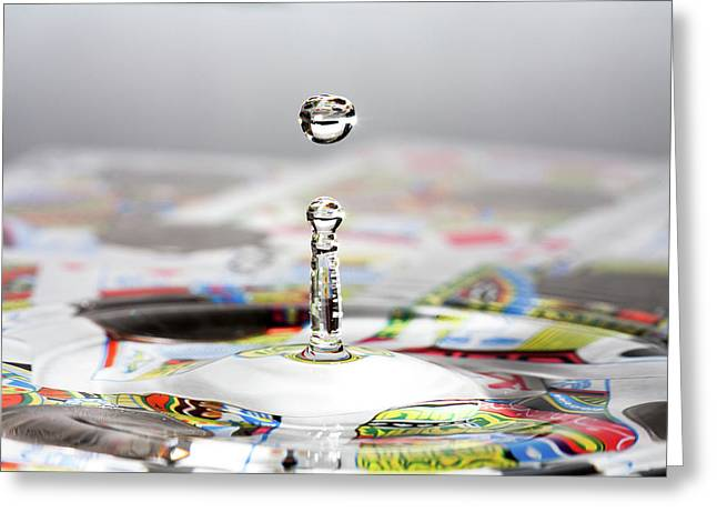 Water Drop Cards Greeting Card