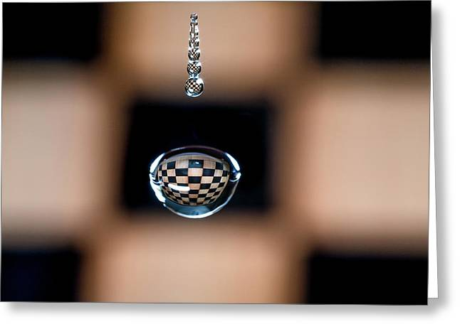Water Drop Chess Board Greeting Card