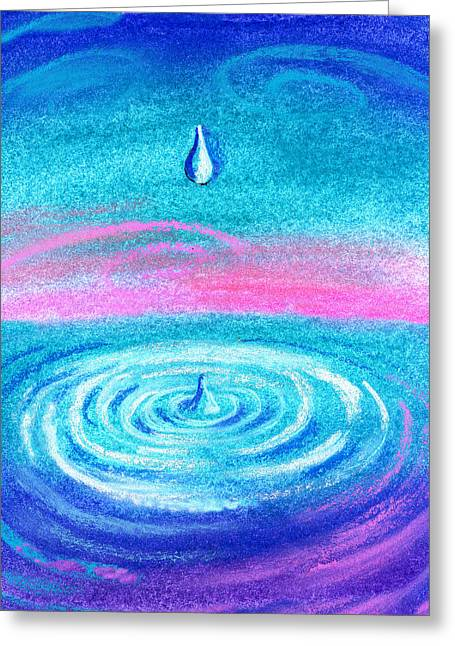 Water Drop Greeting Card