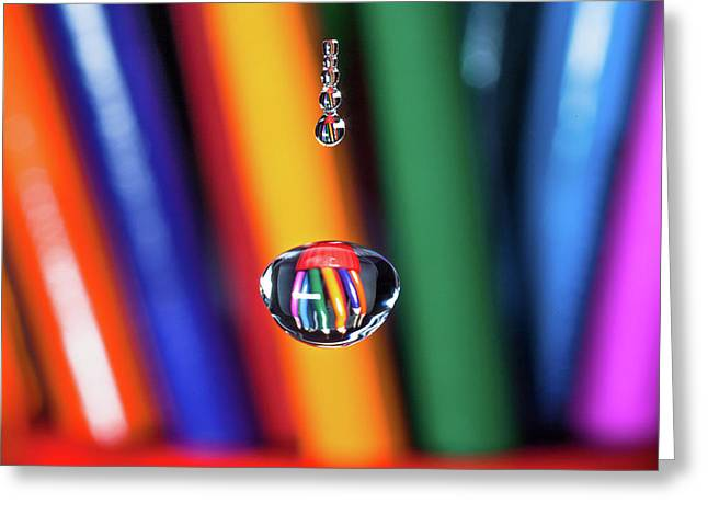 Water Drop Pencils Greeting Card