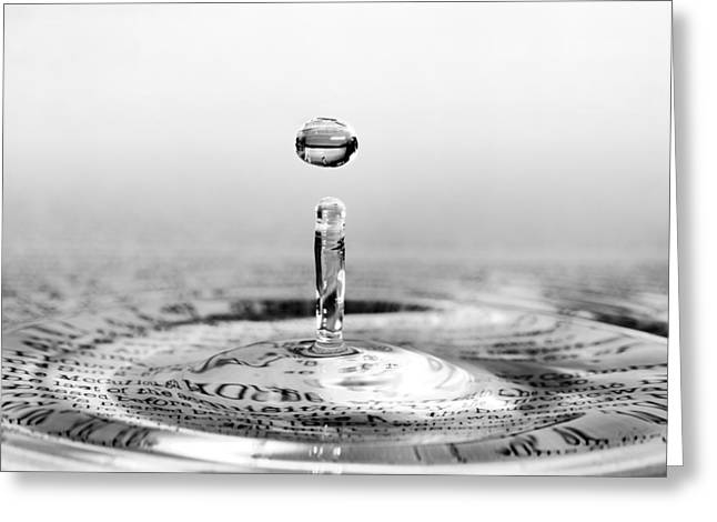 Water Drop Script Greeting Card