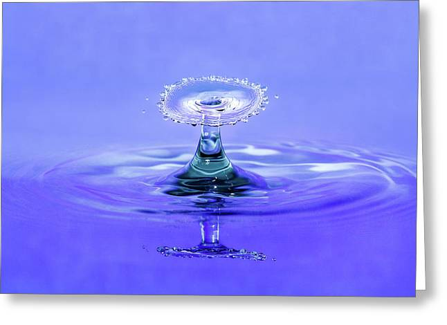 Water Drop Umbrella Greeting Card