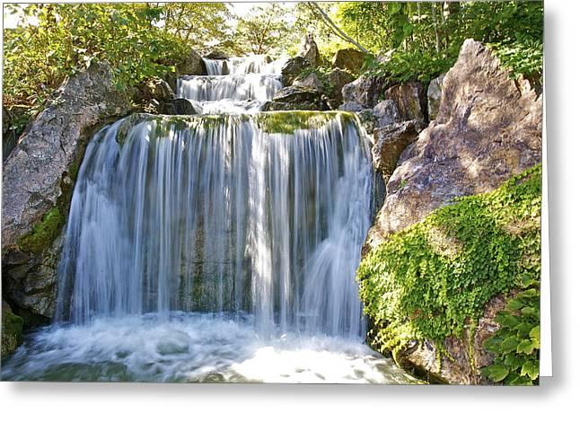 Water Fall  Greeting Card by Robert Joseph
