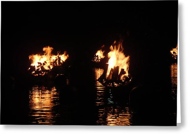 Water Fire Greeting Card by Jeff Porter