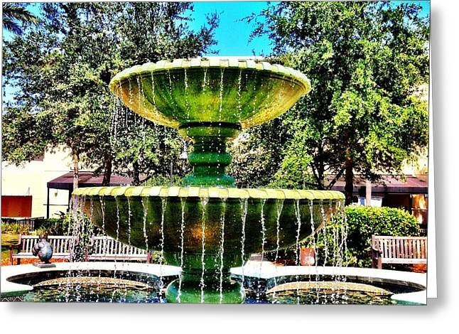 Water Fountain Greeting Card by Carlos Avila