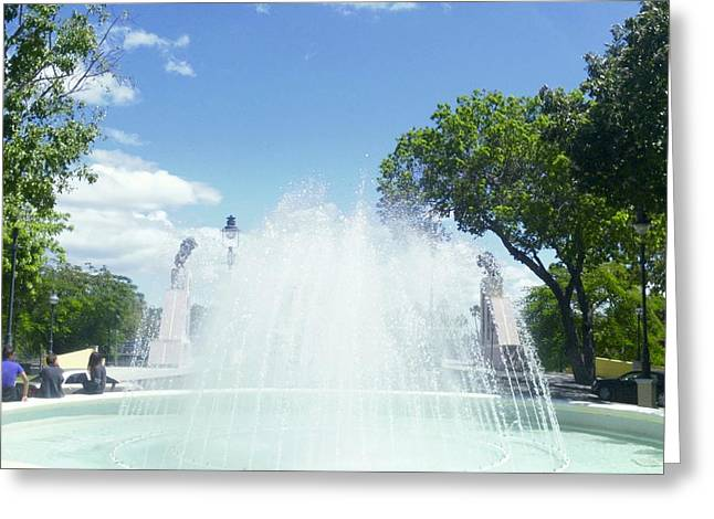 Water Fountain Ponce, Puerto Rico Greeting Card