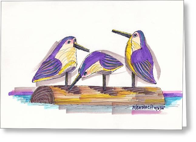 Water Fowl Motif #2 Greeting Card