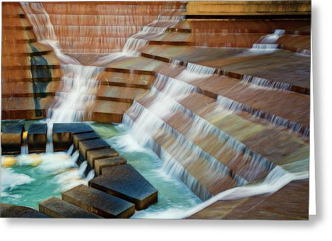 Water Gardens Abstract Greeting Card