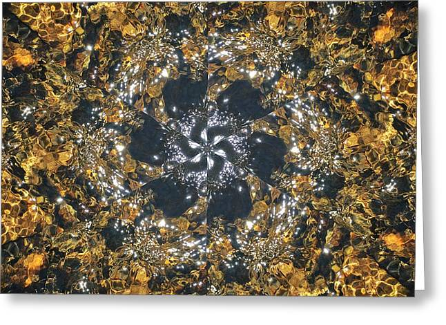 Greeting Card featuring the mixed media Water Glimmer 6 by Derek Gedney