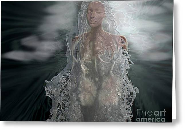 Water Goddess Greeting Card by Cheri Doyle