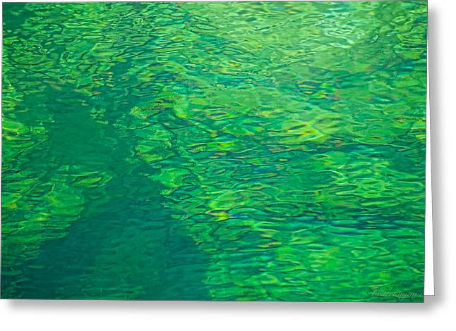 Water Green Greeting Card