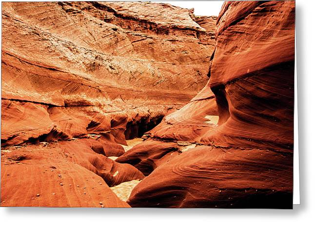 Greeting Card featuring the photograph Water Holes Canyon  by Norman Hall
