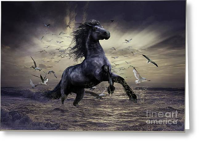 Racing Before The Storm Greeting Card
