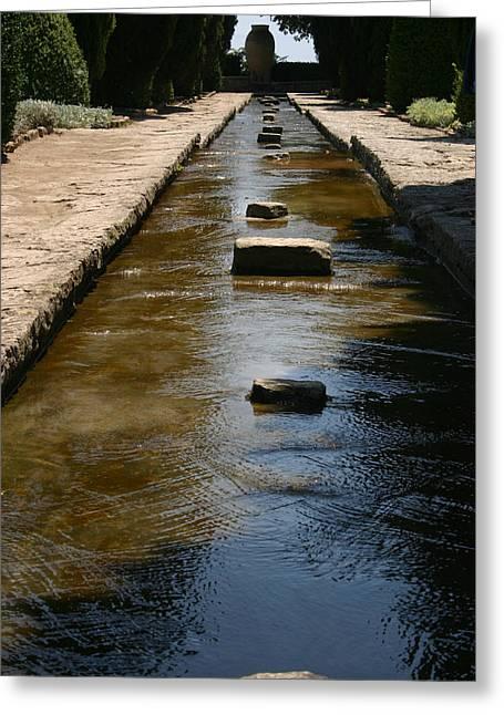 Water In The Balchik Garden Greeting Card