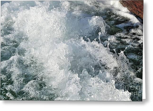 Water In Turmoil Greeting Card