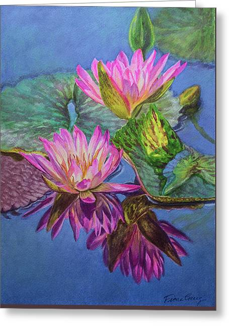 Water Lilies 16 Sunfire Greeting Card
