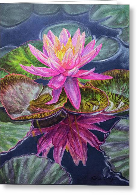 Water Lilies 17 Sunfire Greeting Card