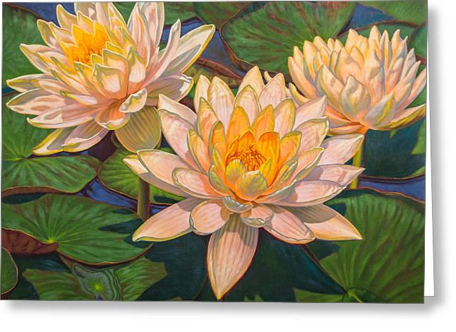 Water Lilies 6 Greeting Card by Fiona Craig