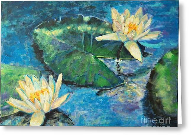 Water Lilies Greeting Card by Ana Maria Edulescu