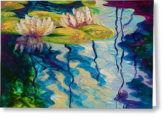 Water Lilies I Greeting Card by Marion Rose