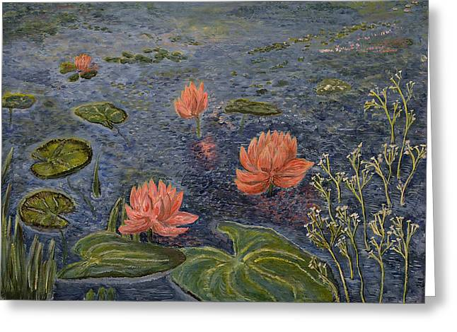 Water Lilies Lounge Greeting Card