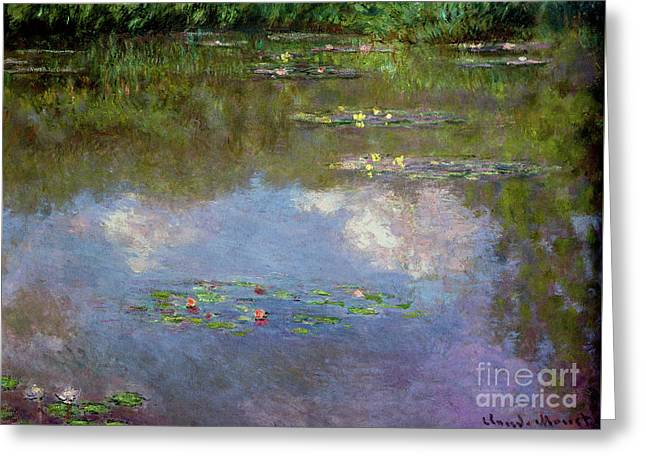 Water Lilies, The Cloud, 1903 Greeting Card