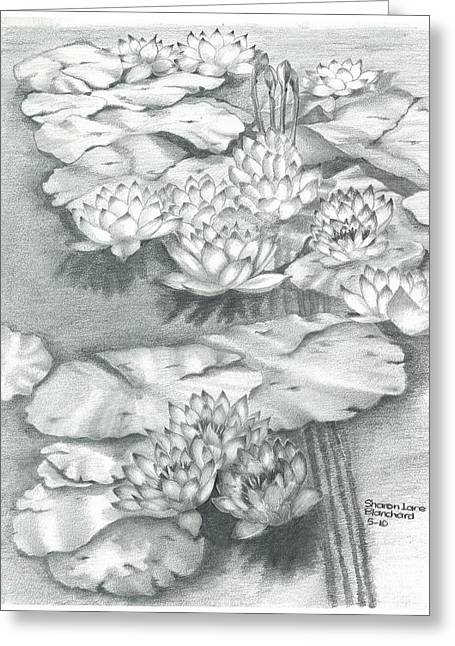 Water Lillies Greeting Card
