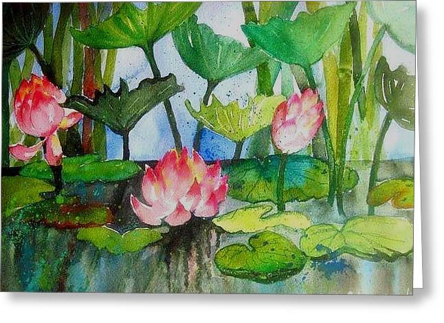Water Lillies Two Greeting Card