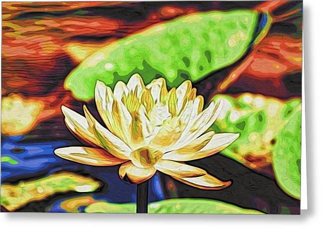 Water Lily Greeting Card by Alexandre Ivanov