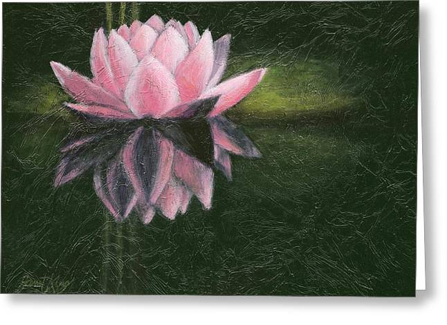 Water Lily Greeting Card by Janet King