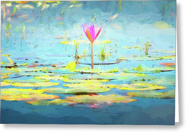 Water Lily - Tribute To Monet Greeting Card