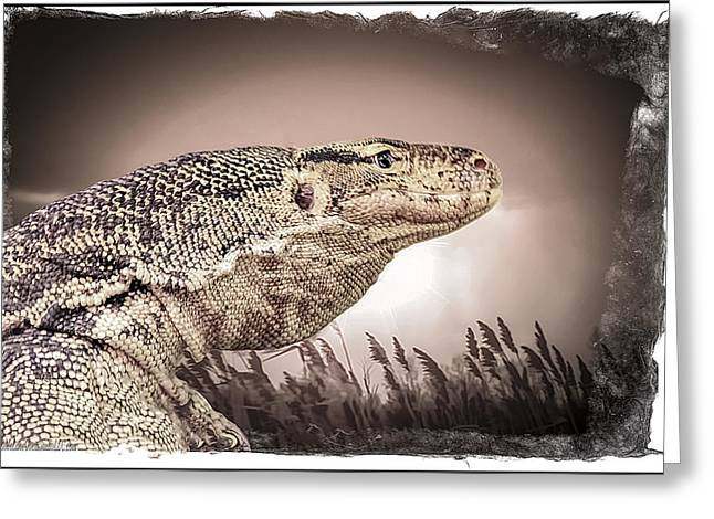 Water Monitor Lizard Greeting Card by LeeAnn McLaneGoetz McLaneGoetzStudioLLCcom