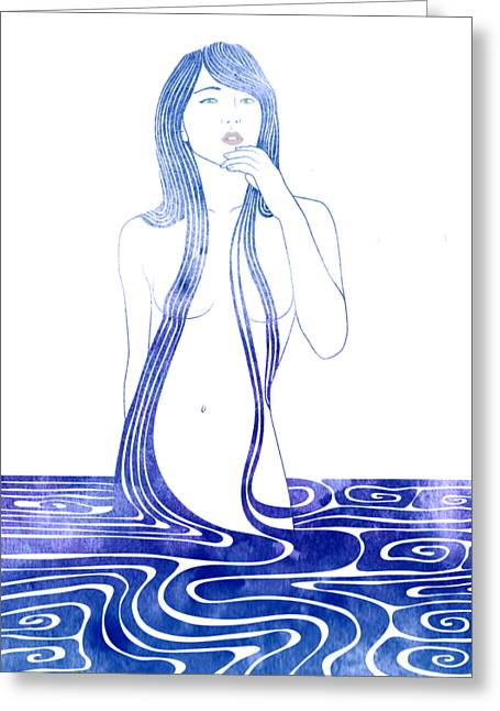 Water Nymph C Greeting Card