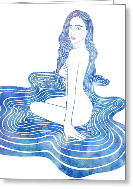 Water Nymph Cii Greeting Card