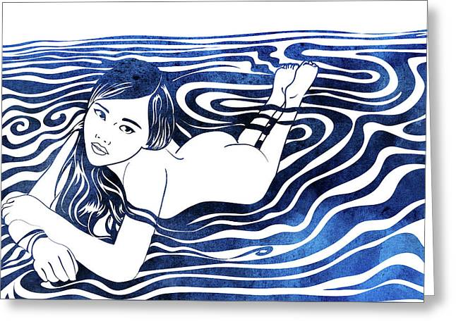 Water Nymph V Greeting Card